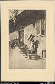 The doctor's house, Windsor, NSW, 1919 Sir Lionel Lindsay X 23, Australian Road Trip, Australian Houses, First Fleet, Old King, Saint Denis, Norse Mythology, Western Australia, Good Old