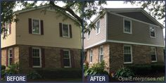 Before & After Naperville Siding Replacement