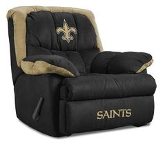 new orleans saints homes | New Orleans Saints Home Team Recliner