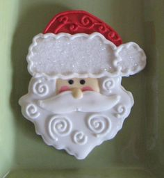 Santa cookie, easy detail on the bottom makes it even more special