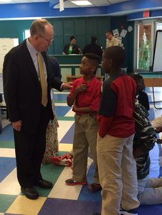 United States Senator Lamar Alexander visiting our Andrew Jackson Boys & Girls Club and speaking to Club members.