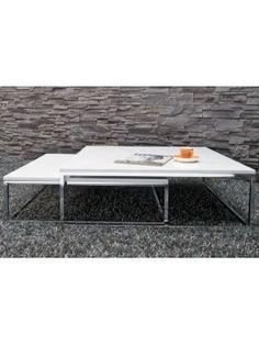 Trolley salontafel 80cm hoogglans wit woonkamer for Ikea fusion tafel