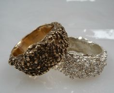 Designer granulated ring in bronze Cluster ring by NyamiJewelry
