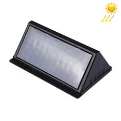 [$11.14] 6V 32 LED Life Waterproof White Light Outdoor Solar Sensor Triangle Wall Light for Yard / Garden / Home / Driveway / Stairs / Outside Wall(Black)