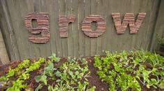Ultra cute Stick Letter DIY to create art for your garden by Jason Hodges from Better Homes and Gardens Australia