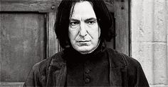 Alan Rickman as Professor Severus Snape - He played the part in all 8 of the Harry Potter movies.
