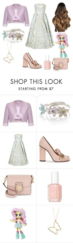 """fluttershy spring's dress"" by kenessyzap ❤ liked on Polyvore featuring beauty, Minuet, Accessorize, Bambah, Gucci, Sam Edelman, Essie, My Little Pony, Summer and Spring"