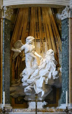 The Ecstasy of Saint Teresa is the central sculptural group in white marble set in an elevated aedicule in the Cornaro Chapel, Santa Maria della Vittoria, Rome. It was designed and completed by Gian Lorenzo Bernini. It is generally considered to be one of the sculptural masterpieces of the High Roman Baroque. It pictures Teresa of Ávila.
