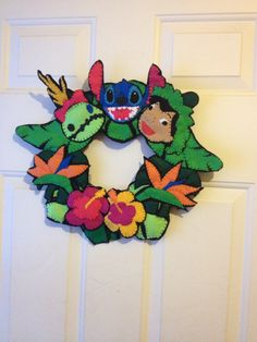 I made this. LILO and Stitch wreath.