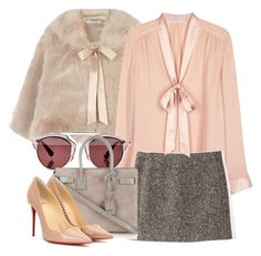 """""""Scream Queens"""" by dceee ❤ liked on Polyvore featuring Coast, Alice + Olivia, Acne Studios, Christian Dior, Yves Saint Laurent and Christian Louboutin"""