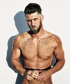 ESPN magazine goes online with its anticipated Body Issue. Going nude, celebrated athletes, ranging from Odell Beckham Jr. and Tyler Seguin to Kevin Love show… Bryce Harper Haircut, Kevin Love, Tyler Seguin, Body Issues, Beckham Jr, Athletic Men, Baseball Players, Nationals Baseball, Baseball Boys