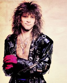 Jon Bon Jovi. Rocking the pink gloves.