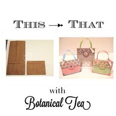 Great tutorial from Kristin Wilson to turn brown paper lunch bags into beautiful party favors with Botanical Tea! #graphic45 #tutorials
