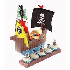 Party Time Celebrations  - Treat Time Party Ship Centrepiece, $24.95 (http://www.partytimecelebrations.com.au/treat-time-party-ship-centrepiece/)