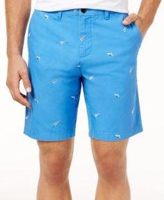 "Tommy Hilfiger Men's Paper Plan 9"" Shorts - Blue 38W"