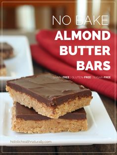 No Bake Almond Butter Bars