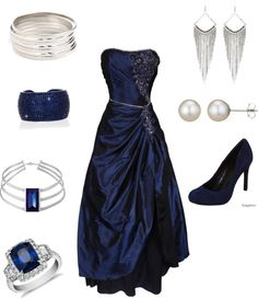 """""""sapphires"""" by ina-allister ❤ liked on Polyvore"""