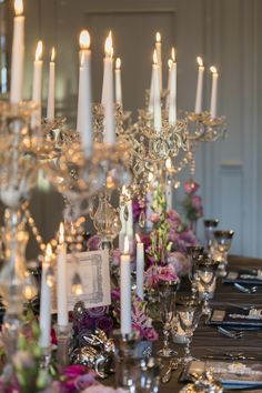 An Elaborate Dinner Party Table scape | Romance | Candles | The Veil
