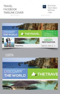 Travel Facebook Timeline Cover Template PSD. Download here: http://graphicriver.net/item/travel-facebook-timeline-cover/15895475?ref=ksioks