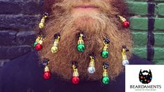 Beardaments  -  Beard Ornaments  -  Beard Baubles - (Pack of 12)  with MINI-CLIPS. by Beardaments on Etsy https://www.etsy.com/listing/253381879/beardaments-beard-ornaments-beard