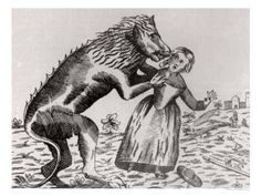 The Beast of Gévaudan was a creature that terrorized south-central France from 1764-1767. It attacked up to 210 times, killing & eating 113 & injuring 49. Descriptions of the beast varied. Some said it was wolf-like, others a cat. All agreed it was large. The King sent professional hunters & soldiers to no effect. The beast was shot several times, but kept killing. Finally a local named Jean Chastel killed an unusual wolf, after which the killings ceased. What the beast was remains unknown.