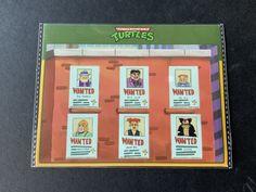 2021 Loot Crate Exclusive Mug Shots Wanted Sticker Sheet Mutant Ninja, Teenage Mutant, Neca Figures, Ninja Turtle Toys, Mug Shots, Crates, Stickers, Mugs, Tumblers