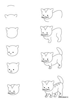 Hoe je een kat tekent.