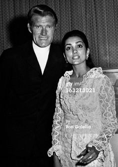 Chuck Connors and wife Kamala Devi