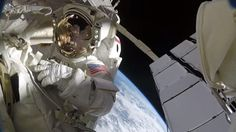 Fantastic Helmet-cam views as Astronauts lose shielding for the ISS
