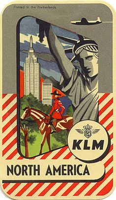 art-of-the-luggage-label-klm-north-america.  --i like how they used an oversized frame as real estate for more theme-supporting imagery