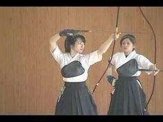 Demonstration of Kyudo from a competition.