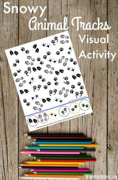 The Inspired Treehouse - Visual perception activities like this one are the perfect entertainment for a cold, snowy winter day!