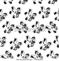 Abstract seamless hand drawn pattern. Modern floral texture.  - stock vector