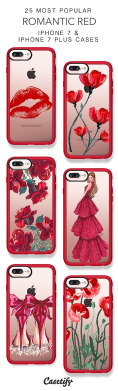 25 Most Popular Romantic Red iPhone 7 Cases and iPhone 7 Plus Cases. More Red iPhone case here > https://www.casetify.com/collections/top_100_designs#/?vc=0FYBvlukrL
