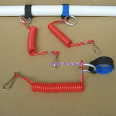 Kayak Accessories Pvc PVC coil leash for a compact design. Complete with carabiner to secure leash to boat. One End Of The Leash Has A Hook-o-Loop Strap For Connecting To The Paddle. These Leashes Are Made To Withstand Of Saltwater or Freshwater. Kayak Fishing Tips, Fishing Rod, Fishing Boats, Canoe Boat, Canoe And Kayak, Kayak Crate, Rv Camping Tips, Camping Supplies, Kayaking Gear
