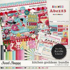 Kitchen Goddess Bundle by Digilicious Design