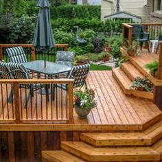 54 Beautiful Top Multilevel Decks Design For Your Backyard. A deck may be an attractive transition between the indoor and outdoor spaces, especially if you are in possession of a screened-in porch. Wood Deck Designs, Pergola Designs, Pergola Ideas, Small Deck Designs, Small Decks, Cheap Pergola, Wood Deck Plans, Diy Deck, Patio Decks