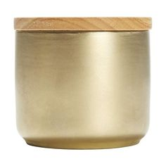 Small Brass Look Canister Home & Co