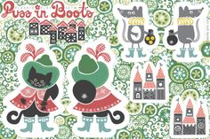 Puss-in-Boots Plushie Playset fabric by christinewitte on Spoonflower - custom fabric