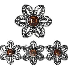 Bead Gallery® Metal Slider, Amber Mix Large Flower - Item # 10241070 - $5.99    Stunning glass rhinestone sliders are ideal for making dazzling bracelets. A slider is a bead with two sets of holes to string through. These beads are used as links or connectors and make fantastic cuff bracelets when strung together with stretchy elastic cord. They are inlaid with faceted glass stones creating beautiful accent pieces.     Details: Antique silver-plated metal with amber glass; 3 sliders