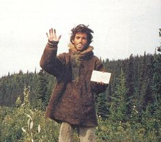 """The last self portrait of Alexander taken shortly before he died of starvation in Fairbanks """"The Magic Bus"""" 142"""