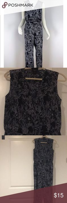 Ann Taylor Jumpsuit Midnight Blue Sleeveless Floral Jumpsuit. Small Petite. Worn once. Ann Taylor Pants Jumpsuits & Rompers