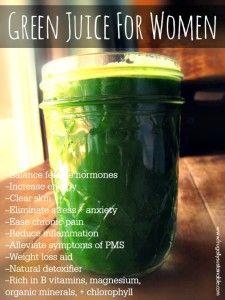 Green Juice for Women - A Balancing Juicing Recipe