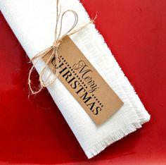 Christmas Napkin Rings, Napkin Tags, Rustic Table Decor, Simple Napkin Rings, Holiday Decor, Merry C Christmas Napkin Rings, Christmas Napkins, Christmas Tag, Homemade Christmas, Christmas Crafts, Christmas Stuff, Christmas 2019, Christmas Ideas, Christmas Decorations