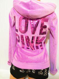 Victoria+Secret+Pink+Sequin+Hoodie