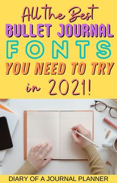 All the best fonts that you NEED to try out in your 2021 bullet journal! #bulletjournalfonts #calligraphy #fonts Hand Lettering For Beginners, Hand Lettering Practice, Hand Lettering Quotes, Block Lettering, Bullet Journal Hand Lettering, Journal Fonts, Journaling, Bullet Journal Hacks, Bullet Journal Printables