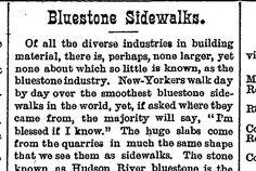 Bluestone Sidewalks, 1891 The Quarrymen, Sidewalks, Building Materials, Day, Image, Construction Materials