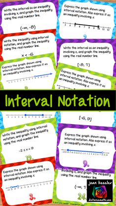 This Interval Notation practice with Task Cards plus HW activity will help  your students grasp  this difficult concept.  Great practice for for Algebra through PreCalculus.