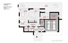Rzut CPT Koncept 30 CE Stag Design, Modern House Design, Architecture Design, House Plans, Pergola, Floor Plans, How To Plan, Bungalow, Houses