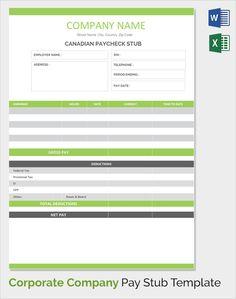 Free Check Stub Template Printable  Pay Stub Templates